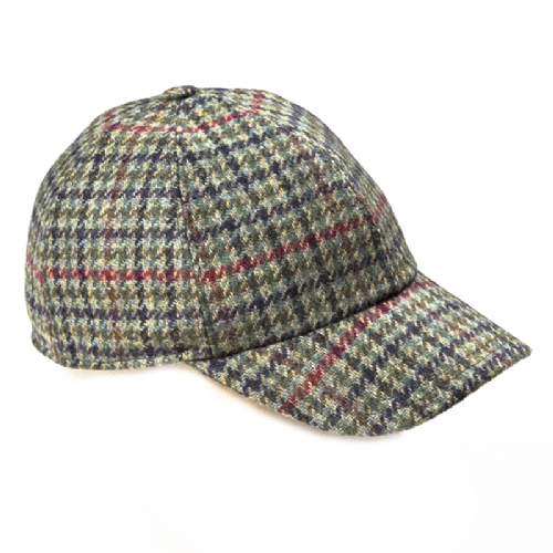 Baseball Tweed Cap - Moss (H77)